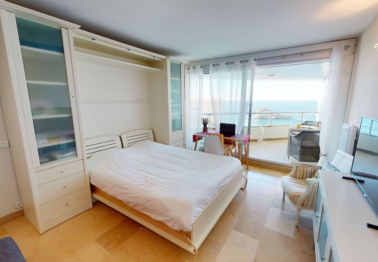 Studio à Biarritz - Studio avec vue océan à deux pas de la plage miramar